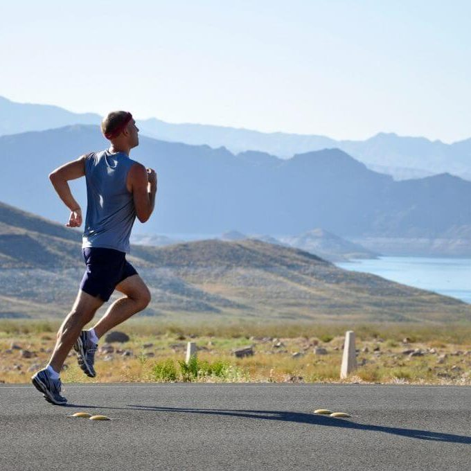 man running exercising outdoors
